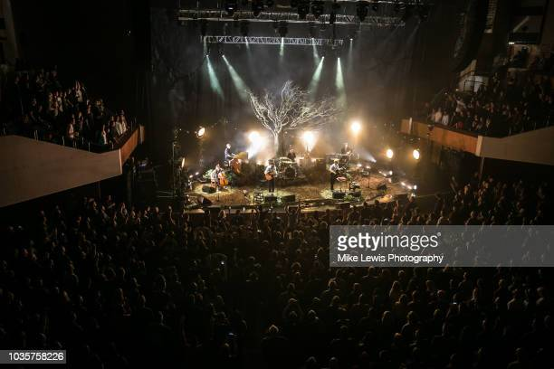 Simon Neil Ben Johnston and James Johnston of Biffy Clyro peform at St David's Hall on September 18 2018 in Cardiff Wales