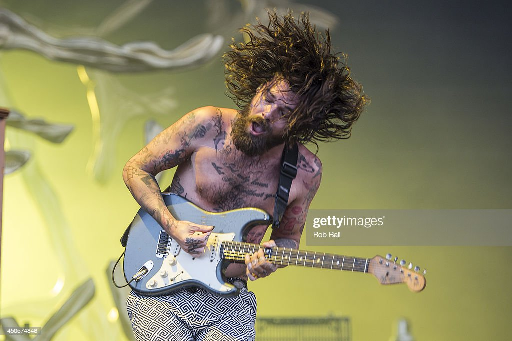 Simon Neil from Biffy Clyro performs at The Isle of Wight Festival as Seaclose Park on June 13, 2014 in Newport, Isle of Wight.