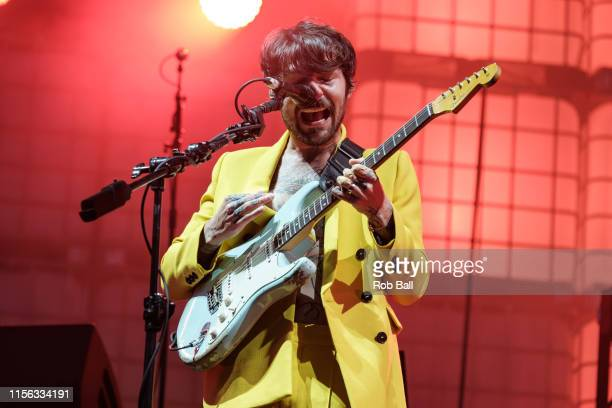 Simon Neil from Biffy Clyro performs on stage during Isle of Wight Festival 2019 at Seaclose Park on June 16 2019 in Newport Isle of Wight