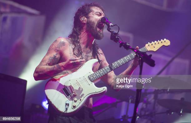 Simon Neil of Biffy Clyro performing live on Day 2 of Download Festival at Donington Park on June 10 2017 in Castle Donington UK