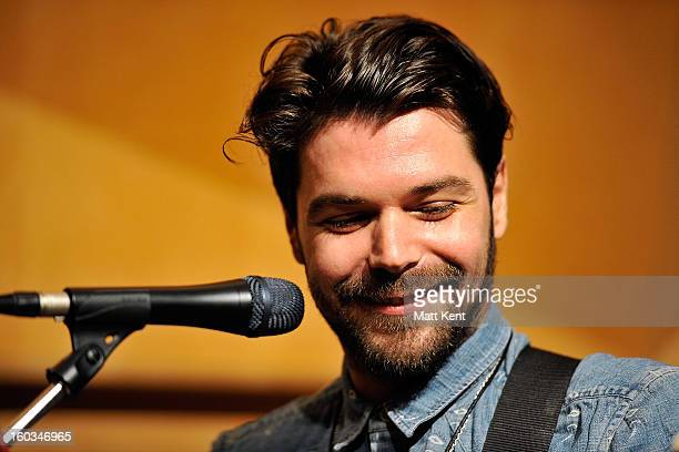 Simon Neil of Biffy Clyro performs as part of the Absolute Radio sessions at Abbey Road Studios on January 29 2013 in London England