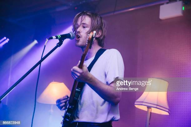 Simon Nilsson of Francobollo performs at Brudenell Social Club on October 26 2017 in Leeds England