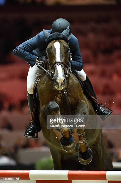 Simon of France rides Chesall Zimequest during the Grand Prix Longines FEI World Cup by GL Events at in the EQUITA Lyon France Photo by Davide...