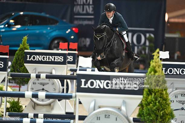 Simon of France rides Qlassic Bois Margot during the FEI Longines CSI5* World Cup Small Tour By BMW Jumping Verona 2016 on November 10 2016 in Verona...