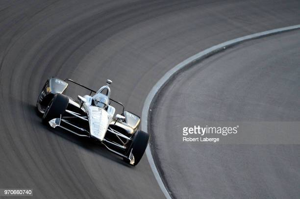 Simon Pagenaud driver of the DXC Technology Team Penske Chevrolet drives during the Verizon IndyCar Series DXC Technology 600 at Texas Motor Speedway...