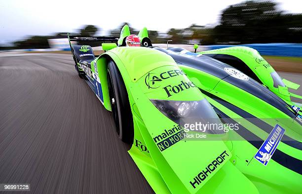 Simon Pagenaud drives the Patron Highcroft Racing HPD ARO1c during the American Le Mans Series Winter Test at Sebring International Raceway February...