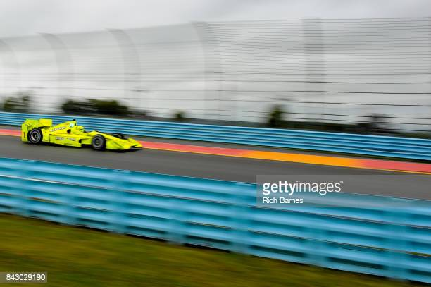 Simon Pagenaud of France driver of the Menards Team Penske Chevrolet during practice for the INDYCAR Grand Prix at The Glen at Watkins Glen...