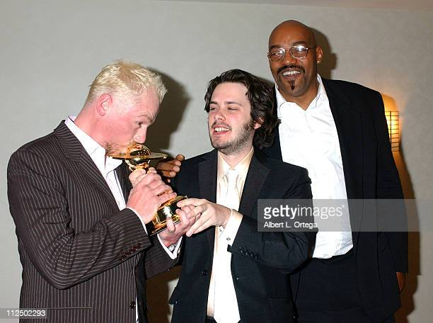 Simon Pegg and Edgar Wright winners for Best Horror Film for 'Shaun of the Dead' with Ken Foree