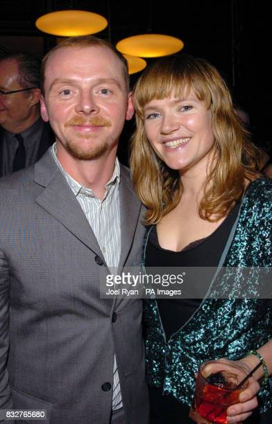 Simon Pegg and Jessica Stevenson at the Hot Fuzz premiere after party in central London