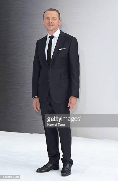 "Simon Pegg arrives for the UK premiere of ""Star Trek Beyond"" on July 12, 2016 in London, United Kingdom."