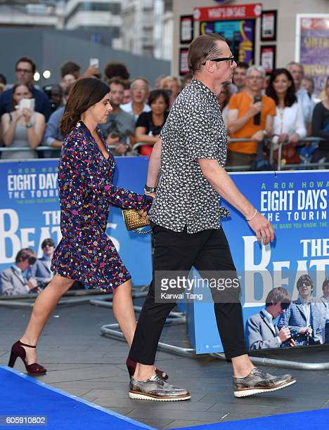 Simon Pegg arrives for the World premiere of 'The Beatles Eight Days A Week The Touring Years' at Odeon Leicester Square on September 15 2016 in...