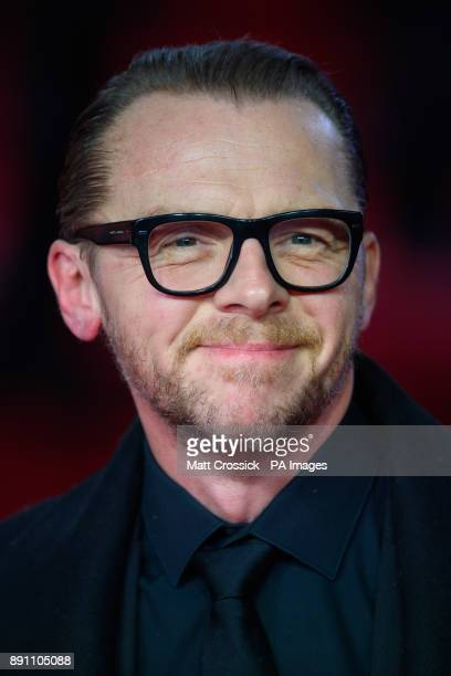 Simon Pegg attending the european premiere of Star Wars The Last Jedi held at The Royal Albert Hall London Picture date Tuesday December 12 2017 See...