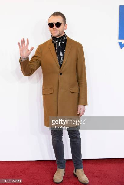 Simon Pegg attends a gala screening of The Kid Who Would Be King held at Odeon Leicester Square on February 03 2019 in London England