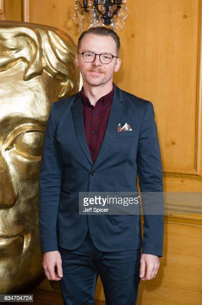 Simon Pegg attends BAFTA fellowship lunch at The Savoy Hotel on February 11 2017 in London United Kingdom