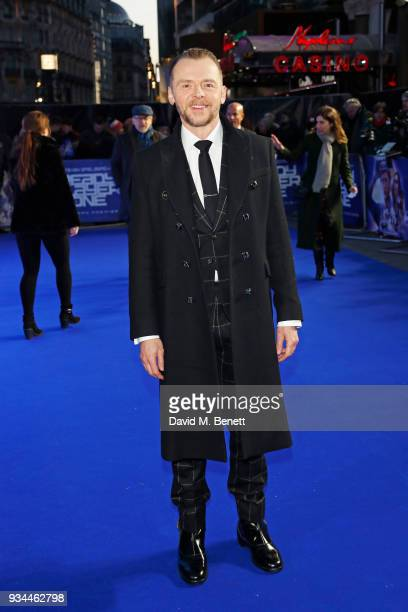 Simon Pegg attends the European Premiere of 'Ready Player One' at the Vue West End on March 19 2018 in London England