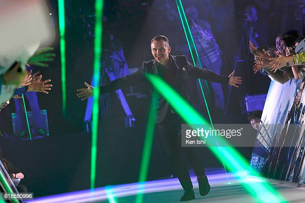 Simon Pegg attends the premiere of Paramount Pictures' Star Trek Beyond at TOHO Cinemas on October 19 2016 in Tokyo Japan