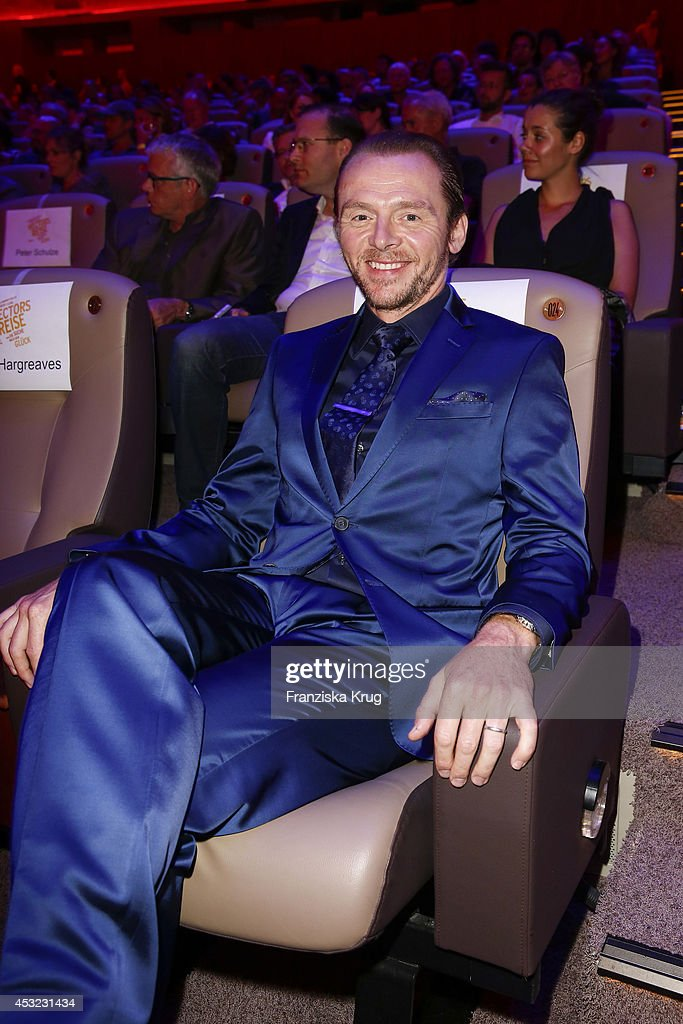 Simon Pegg attends the premiere of the film 'Hector and the Search for Happiness' (German title: 'Hectors Reise') at Zoo Palast on August 05, 2014 in Berlin, Germany.