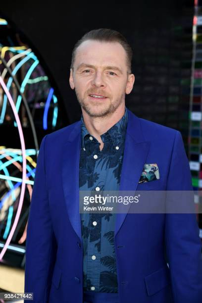 Simon Pegg attends the Premiere of Warner Bros Pictures' Ready Player One at Dolby Theatre on March 26 2018 in Hollywood California