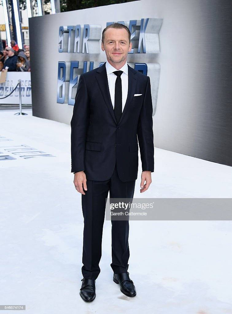 Simon Pegg attends the UK Premiere of Paramount Pictures 'Star Trek Beyond' at the Empire Leicester Square on July 12, 2016 in London, England.