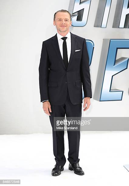 Simon Pegg attends the UK Premiere of 'Star Trek Beyond' at Empire Leicester Square on July 12 2016 in London England