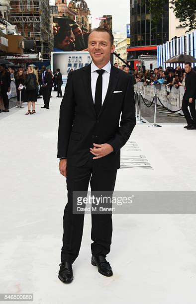 """Simon Pegg attends the UK premiere of """"Star Trek Beyond"""" on July 12, 2016 in London, United Kingdom."""