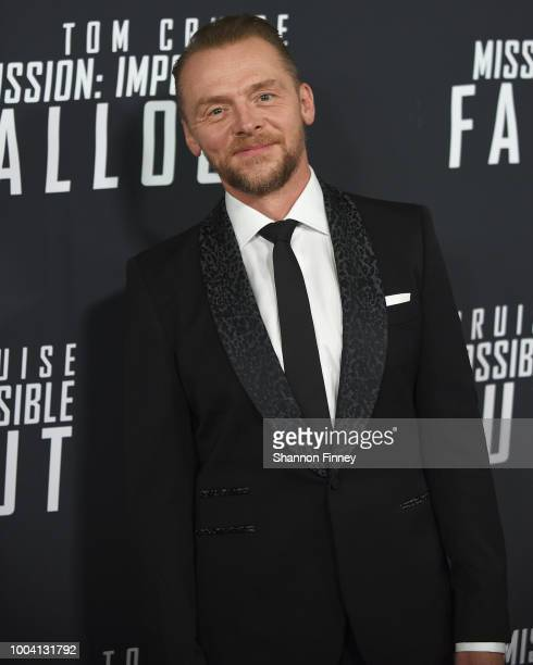 Simon Pegg attends the US Premiere of Mission Impossible Fallout at Smithsonian's National Air and Space Museum on July 22 2018 in Washington DC