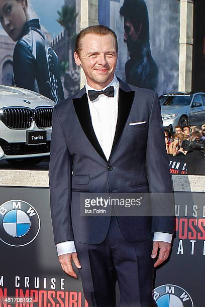Simon Pegg attends the world premiere of 'Mission Impossible Rogue Nation' at the Opera House on July 23 2015 in Vienna Austria