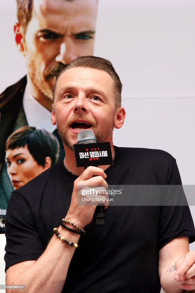 Simon Pegg makes a special theater visit at the 'Mission: Impossible - Fallout' Seoul Screening at Lotte Cinema on July 17, 2018 in Seoul, South Korea.