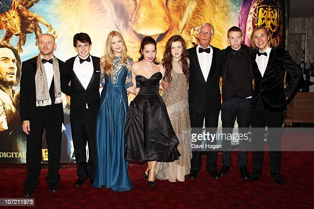 Simon Pegg Skandar Keynes Laura Brent Anna Popplewell Michael Apted Will Poulter William Moseley and Andrew Adamson attend the Royal World Premiere...