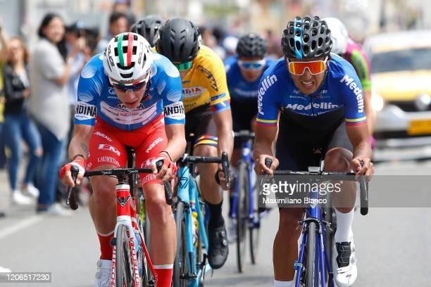 Simon Pellaud of Switzerland and Team Androni Giocattoli - Sidermec Blue Mountain Jersey / Robinson Eduardo Chalapud Gomez of Colombia and Team...