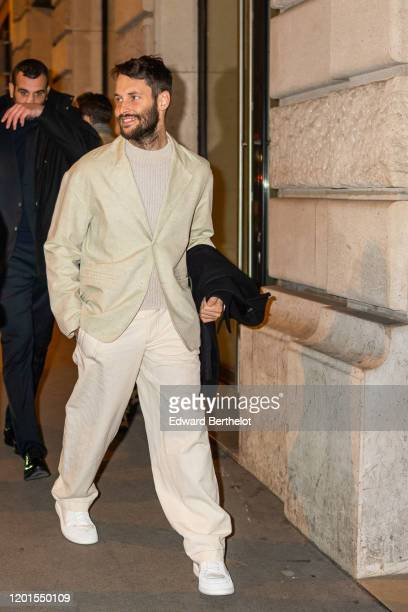 Simon Porte Jacquemus arrives at Sidaction Gala Dinner 2020 At Pavillon Cambon on January 23, 2020 in Paris, France.