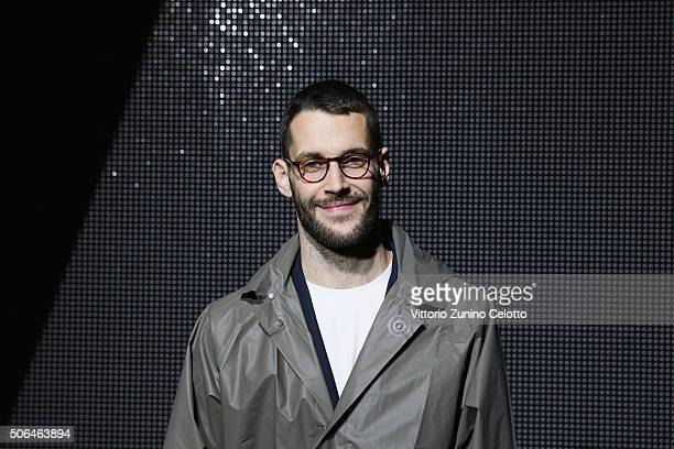 Simon Porte Jacquemus attends the Dior Menswear Fall/Winter 2016/2017 fashion show at Tennis Club de Paris on January 23 2016 in Paris France