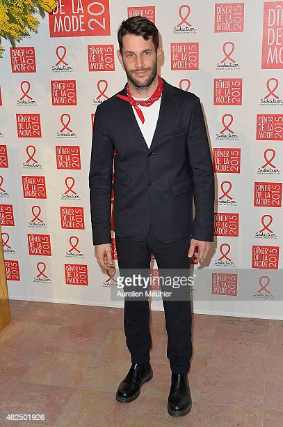 Simon Porte Jacquemus attends the Sidaction Gala Dinner 2015 at Pavillon d'Armenonville on January 29 2015 in Paris France