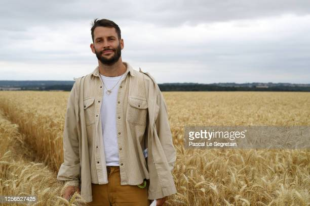 """Simon Porte Jacquemus is seen prior """"L'Amour"""" : Jacquemus Spring-Summer 2021 show on July 16, 2020 in Paris, France."""