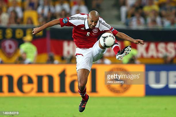 Simon Poulsen of Denmark controls the ball during the UEFA EURO 2012 group B match between Denmark and Germany at Arena Lviv on June 17, 2012 in...