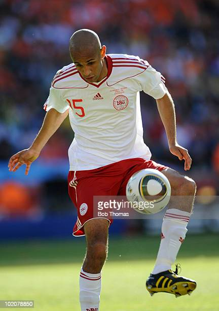Simon Poulsen of Denmark during the 2010 FIFA World Cup Group E match between Netherlands and Denmark at Soccer City Stadium on June 14, 2010 in...