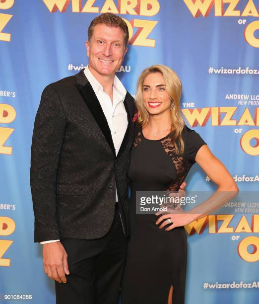 Simon Pryce and Lauren Hannaford attend The Wizard of Oz Sydney Premiere at Capitol Theatre on January 4 2018 in Sydney Australia