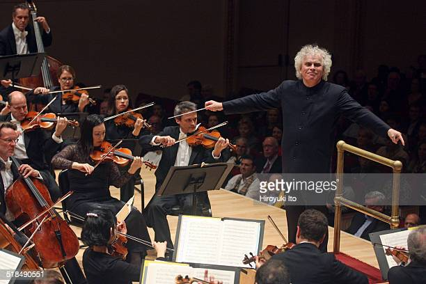 Simon Rattle leading the Berlin Philharmonic in Schumann Symphonies at Carnegie Hall on Sunday night October 5 2014