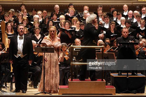 Simon Rattle leading the Philadelphia Orchestra in Berlioz's La damnation de Faust at Carnegie Hall on Friday night May 1 2009This imageFrom left...