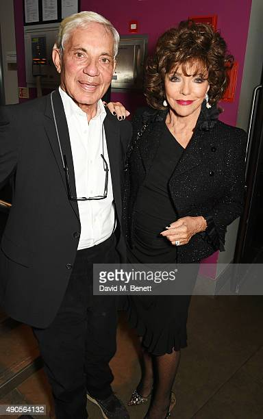 Simon Reuben and Joan Collins attend the press night of Pure Imagination The Songs of Leslie Bricusse at the St James Theatre on September 29 2015 in...