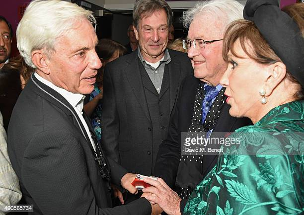 Simon Reuben Michael Brandon Leslie Bricusse and Yvonne Romain attend the press night of Pure Imagination The Songs of Leslie Bricusse at the St...