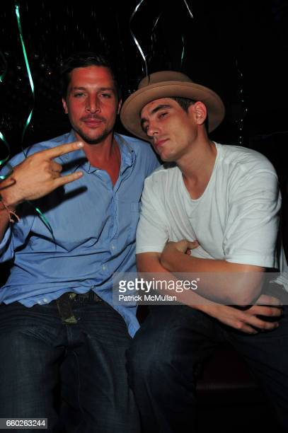 Simon Rex and Ethan Browne attend Noel Ashman Birthday Party at Greenhouse NYC on June 25 2009 in New York City