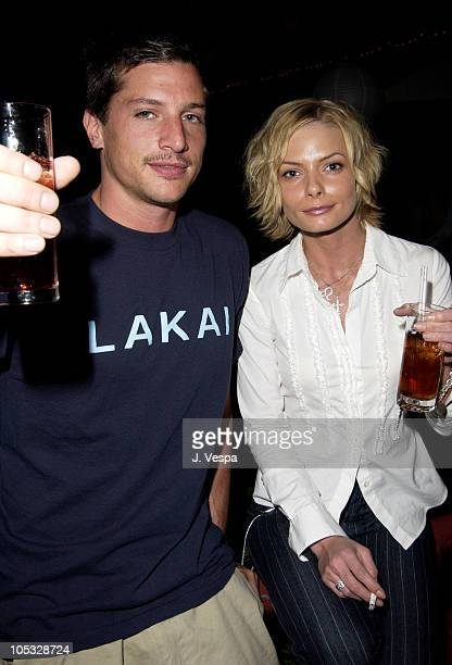 Simon Rex and Jaime Pressly during Maxim Hot 100 Party Inside at Yamashiro in Hollywood California United States