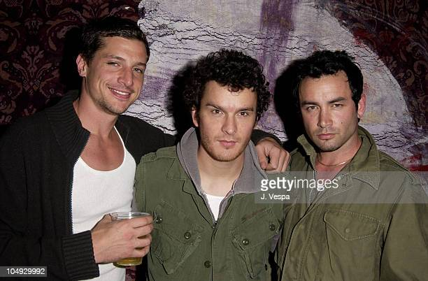 Simon Rex Balthazar Getty during Michel Comte's Benefit and Auction for People and Places With No Name Party at Ace Gallery in Los Angeles California...