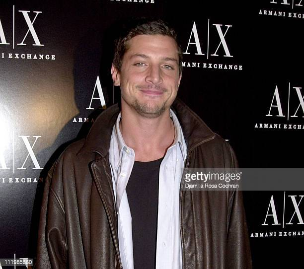 Simon Rex during Armani Exchange Nightclub in the Sky Party at Hudson Studios in New York City New York United States