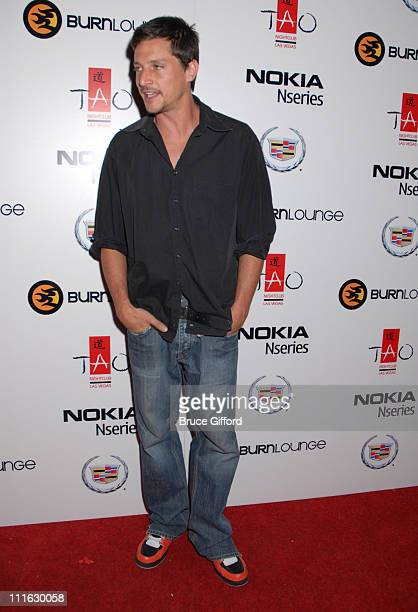 Simon Rex during Carson Daly Hosts Launch Party for New Online Music Store Burn Lounge June 10 2006 at Tao in Las Vegas California United States