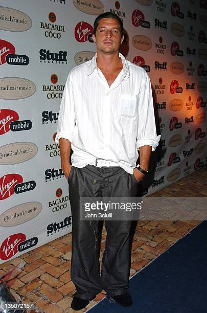 Simon Rex during Stuff Magazine and Virgin Mobile VMA Party Hosted by Missy Elliot and Dave Meyers Arrivals at Star Island in Miami California United...