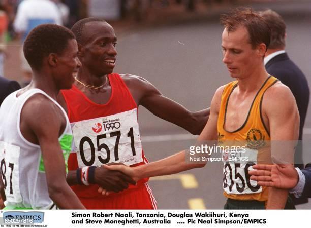 Simon Robert Naali Tanzania Douglas Wakiihuri Kenya and Steve Moneghetti Australia