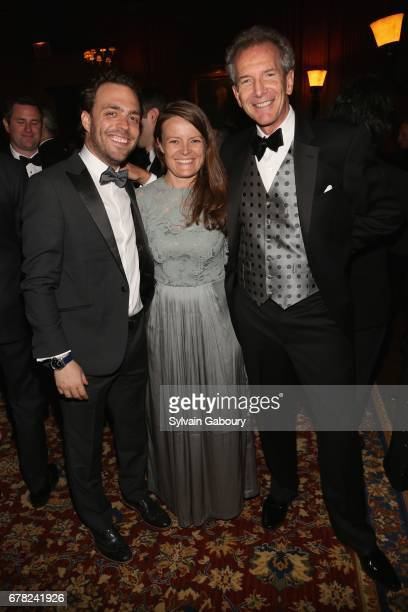 Simon Sadinsky Edith Platten and Anthony Barnes attend 2017 ICAA Arthur Ross Awards at The University Club on May 1 2017 in New York City