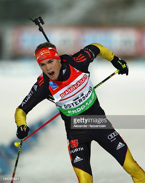 Simon Schempp of Germany competes at the men's 20km individual race during the E.ON IBU World Cup Biathlon at the Ostersund Ski Stadium on November...